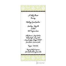 : Damask Lime Invitation
