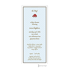 : Sweet Dots Blue Invitation