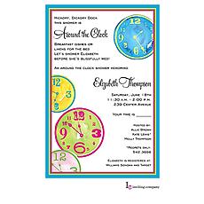 Clock Craze Invitation -