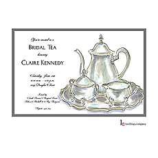 Tea Service Invitation -