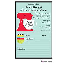 : Mixer Recipe Invitation