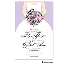 : Bouquet Bride Invitation