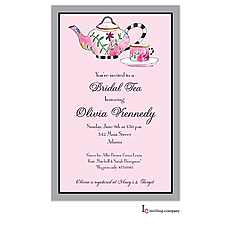Bold Tea Invitation -