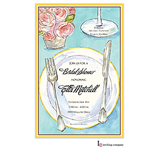 Rose Placesetting Invitation -