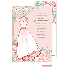 Blush Rose Dress Invitation -