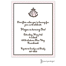 : Dotted Edge Pink & Chocolate Invitation