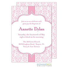 Floral Damask Invitation - Pink -