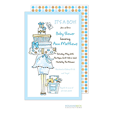 : Momma Package Invitation - Blue
