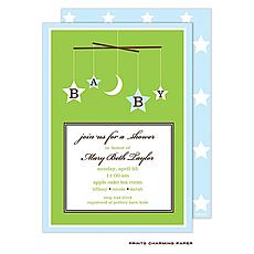 : Baby Boy Mobile Invitation