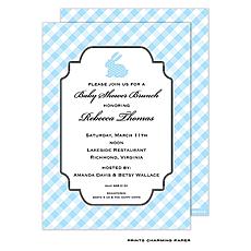 : Blue Bunny Shower Invitation