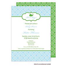 : Blue Geometric Invitation