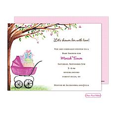 : Beautiful Bassinet (Pink) Invitation