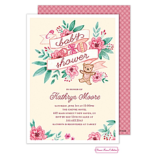 : Vintage Baby Banner (Pink) Invitation