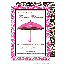 : Pink Umbrella Initial Invitation