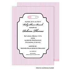 : Sweet Safety Pin Shower Invitation