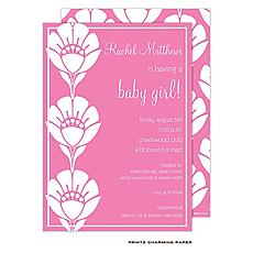 : Vibrant Pink Flower Invitation