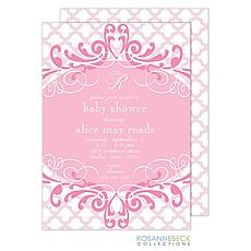 : Scalloped Invitation - Pink
