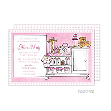 Nursery Invitation - Pink -
