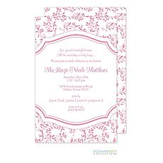 : Spring Floral Invitation - Pink
