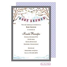 : Baby Bird Winter Shower Invitation