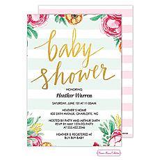 : Baby Shower Stripes Invitation