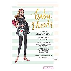 : Modern Mom Stripes Invitation