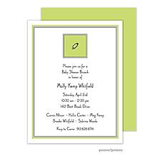 Diaper Pin Chartreuse Invitation -