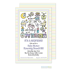 Oh Baby Invitation - Multi -
