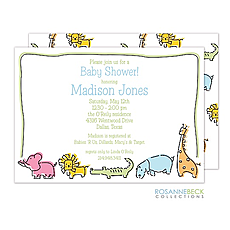 : Zoo Animal Invitation