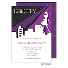 Sixteen In The City Invitation -