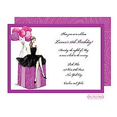 Fashionable Party Girl Invitation -