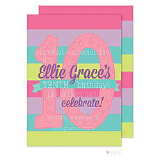 : Tenth Birthday Invitation