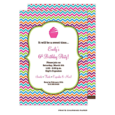 : Multi-Color Chevron Invitation