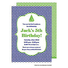 : Blue Chevron Invitation