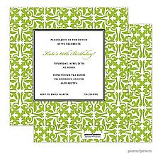 : Pretty Pattern Grasshopper Square Invitation