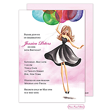 : Floating Party Girl Invitation