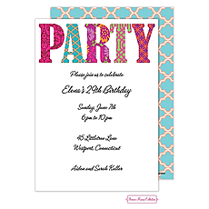 : Pretty Patterned Party Invitation