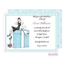 Bride On Box (Brunette) Invitation -