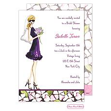 Floral Bride (Blonde) Invitation -