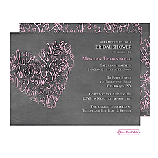 : Script Heart Chalkboard Invitation