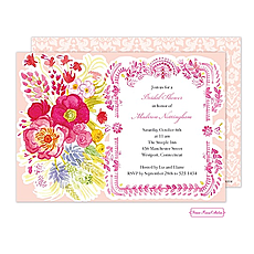 Vintage Floral Invitation -