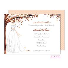 : Wonderful Wedding Dress Fall Invitation
