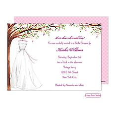 Wonderful Wedding Dress Invitation -
