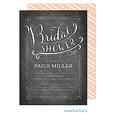 Bridal Shower Calligraphy Invitation -