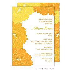 : Tangerine and Orange Floral Invitation
