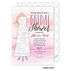 Bridal In Watercolor Invitation -