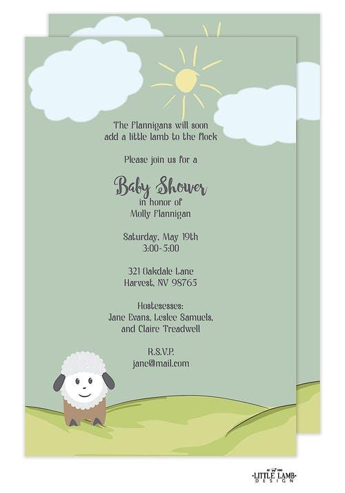 Little lamb baby shower invitation little lamb design little lamb baby shower invitation filmwisefo