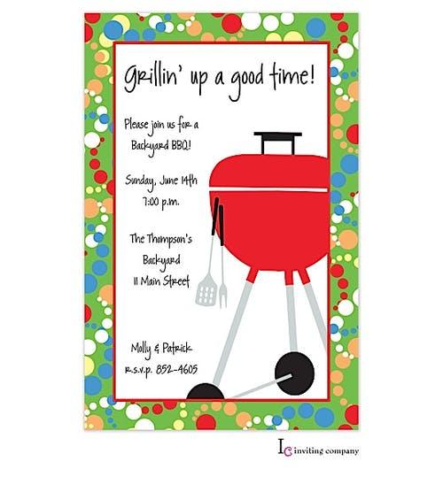 fab grill invitation inviting company